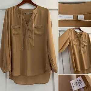 Tan blouse. NY and Company
